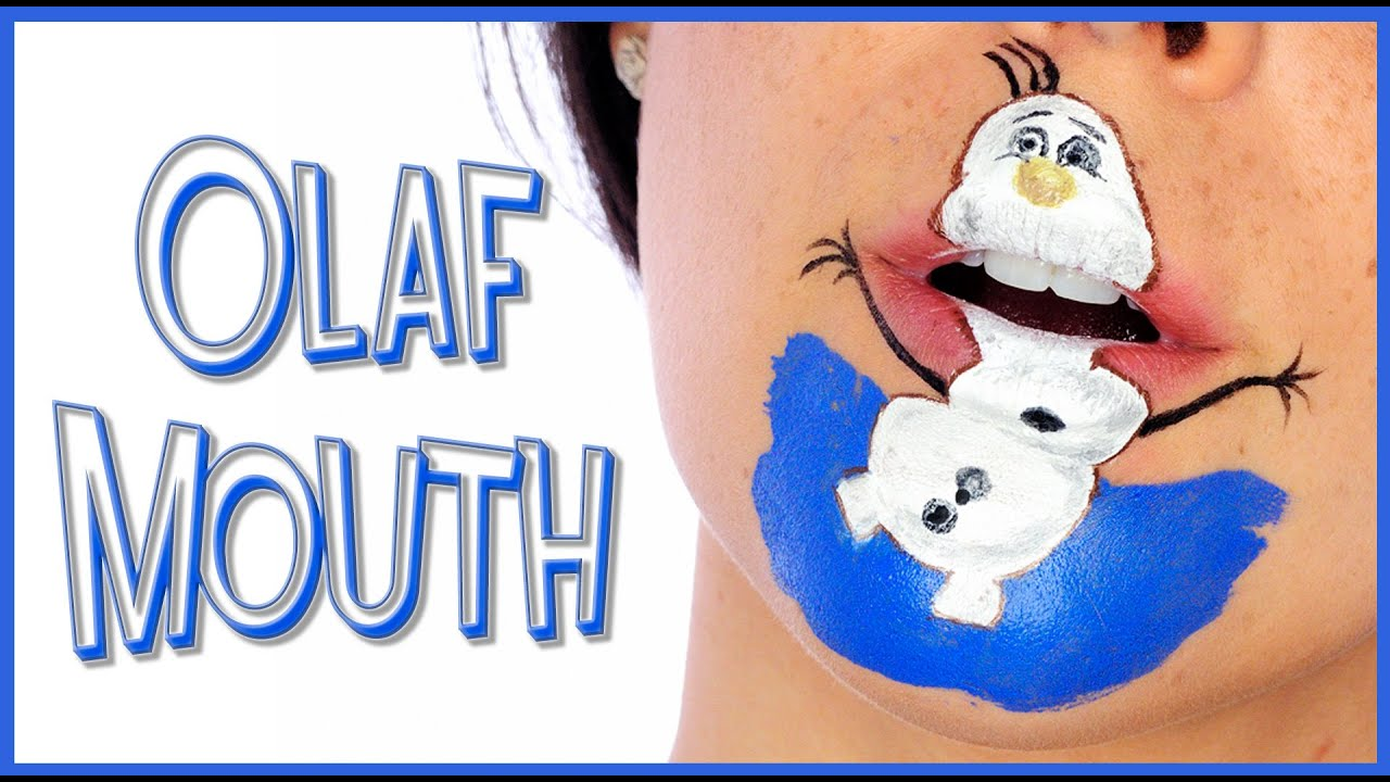 Olaf Mouth From Frozen Makeup