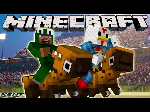 Minecraft - MODDED DINOSAUR RACE - Animal Bikes Mod Challenge