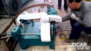Automatic Sharpener for Band saw blades works video -- JAYA
