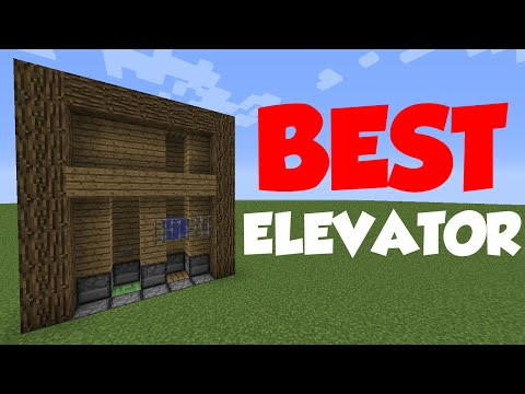 Minecraft 1.8: Redstone Tutorial - Simplest Slime Elevator!