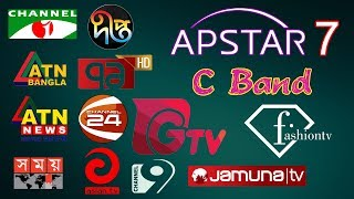 APSTAR 7(76.5°E) C Band | All Free Bengali Channels on FTA Receiver | Dish SetUp