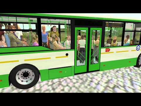 OMSI Voljanin test 8 (doors + full bus pass)