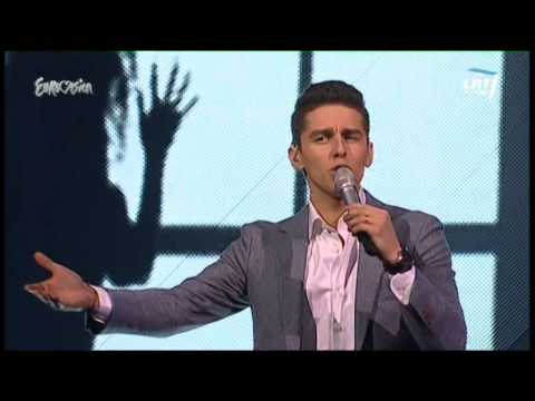 Donny Montell performed his own 2012 entry Love Is Blind as...