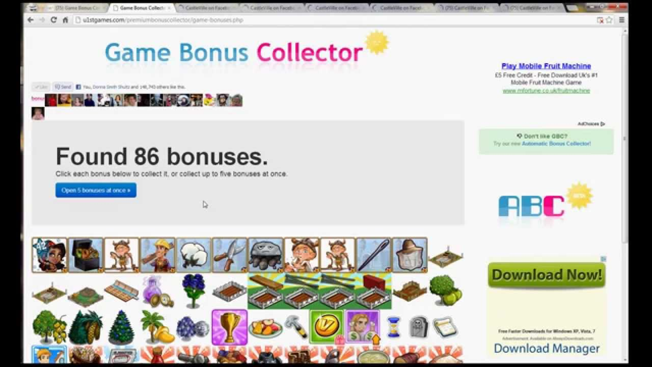 facebook games bonus collector