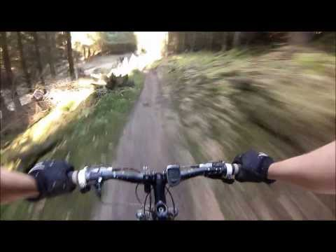 DALBY FOREST RED ROUTE MTB TRAIL. GOPRO HD