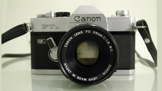 Canon FTb QL 35mm SLR Film Camera + Canon FD 50mm 1.8 S.C. Lens