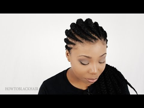 Ghana Braids / Invisible Cornrow Braids Hairstyle Tutorial Part 1 Supplies