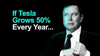 What If Tesla Keeps Growing 50% Every Year?