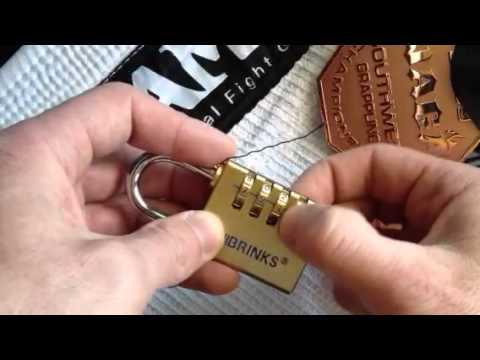 Combination lock brinks