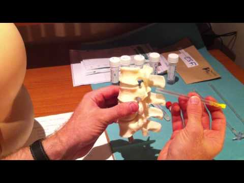Lumbar Puncture Series - 4 Lumbar Spine Anatomy and Needle Trajectory