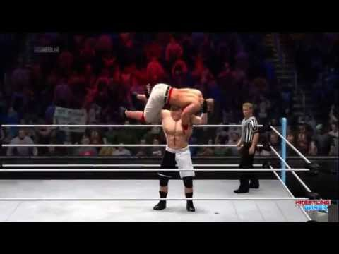 WWE SummerSlam 2014 Brock Lesnar wins the WWE World ...