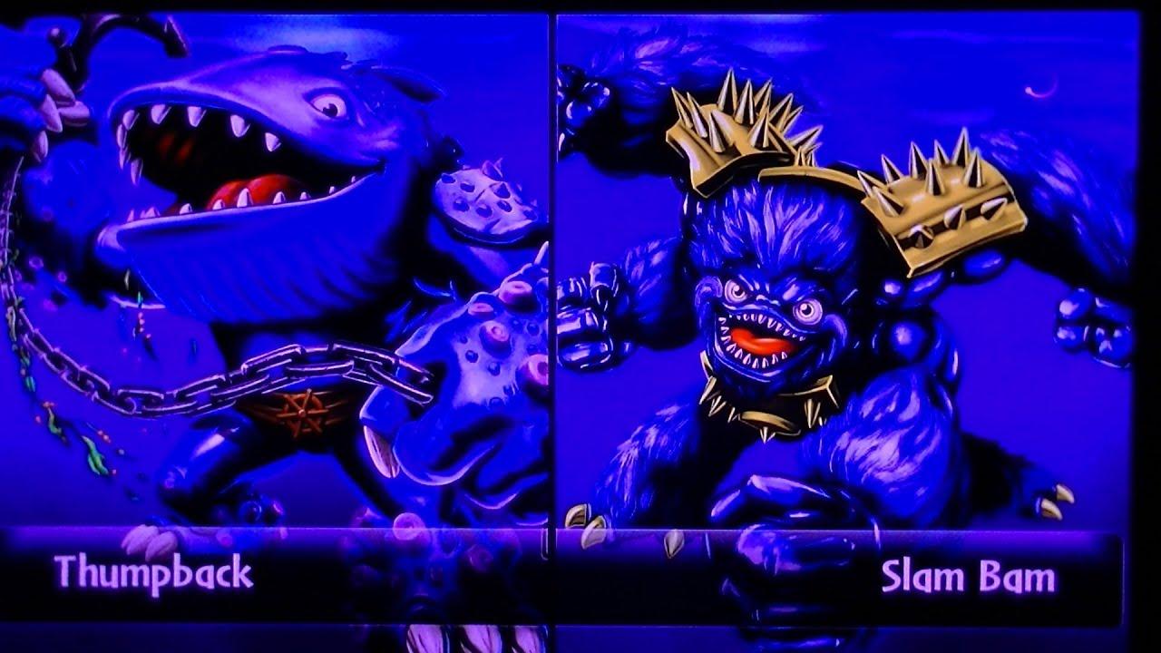 Skylanders giants thumpback vs legendary slam bam youtube - Skylanders thumpback ...
