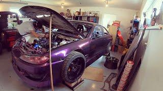 Nissan 200sx s14,5 2JZ work #2 #KRSTDRFT drift lifestyle vlog #291