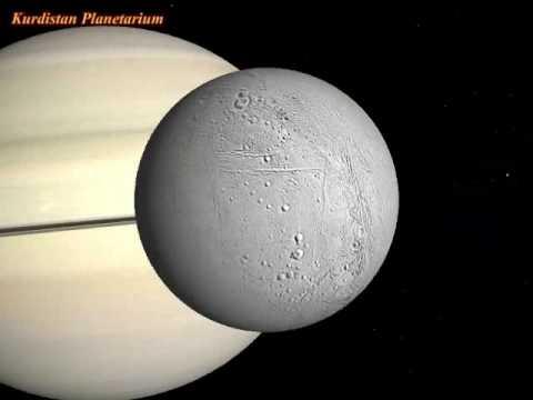 Saturn's Moon: Enceladus Rotation