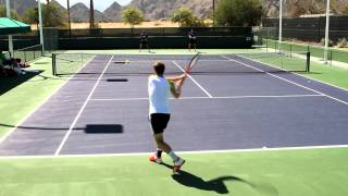 Andy Murray Practice With Darren Cahill 2012 BNP Paribas Open