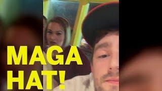 Woman Harasses Man With MAGA Hat