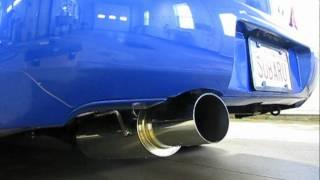 STI Stock Exhaust vs Apexi N1