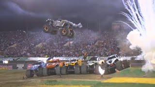 Who will jump 7 trucks at Monster Jam World Finals XX?