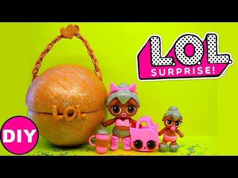 Куклы ЛОЛ Большой Шар ЛОЛ Сюрприз Игрушки своими руками LOL Dolls Surprise  DIY Легкий пластилин