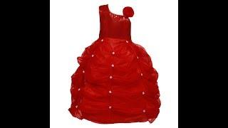 Saba Garments Satin Net Fully Ball Gown Dress for Girls