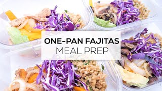 One-Pan Fajitas | EASY & QUICK MEAL PREP - Chicken & VEGETARIAN Options | Gluten-Free, LOW CARB