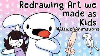 Download Redrawing Art we made as Kids w/JaidenAnimations 3Gp Mp4