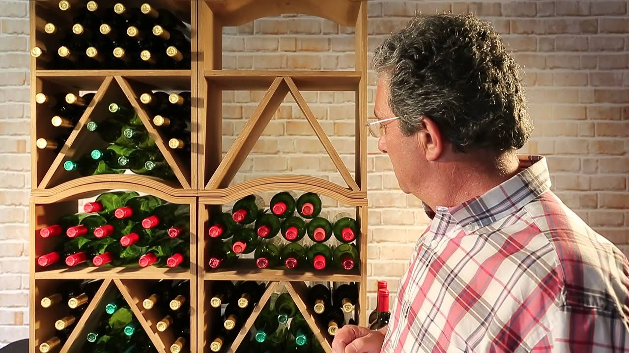 Botellero mencia para 30 botellas vino youtube - Botellero de vino ...