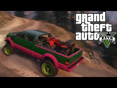 ★ GTA 5 - Hauling ATV Up Mountain   Second Try   Off-Road 4x4