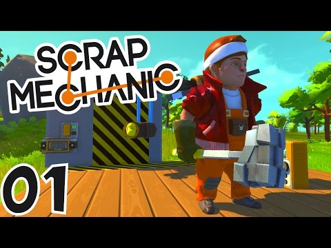 les constructeurs de l extr me scrap mechanic ep1. Black Bedroom Furniture Sets. Home Design Ideas