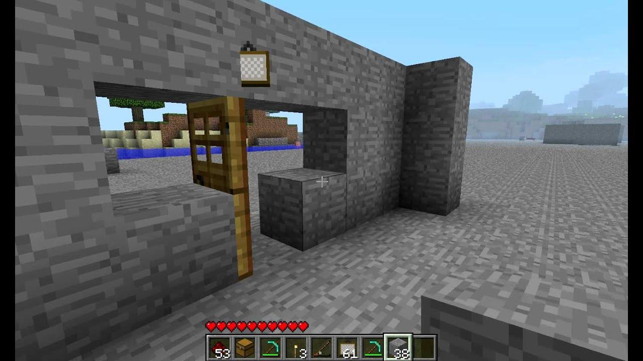 minecraft fallen bauen 8 durch bilder hindurch gehen youtube. Black Bedroom Furniture Sets. Home Design Ideas