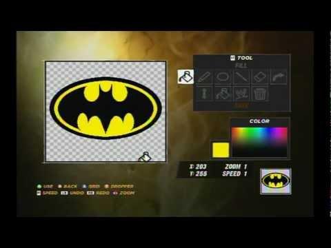 WWE 12 How to make The Bat Symbol Batman