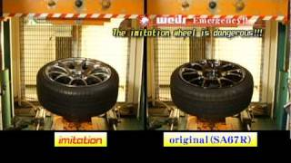 Dangerous imitation wheel !!