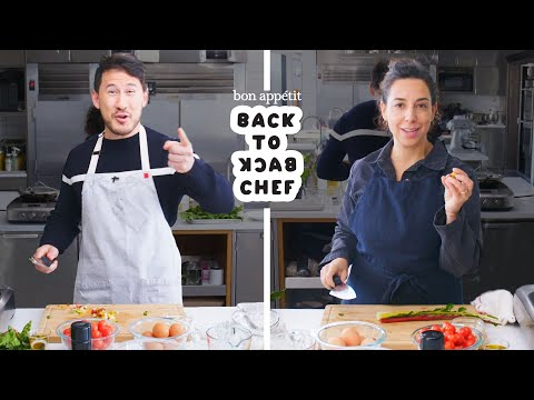 Markiplier Tries to Keep Up with a Professional Chef | Back-to-Back Chef | Bon Appétit