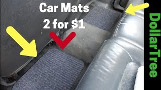 DollarTree..D.I.Y. Car Floor Mats..Fits Any Vehicle  |  Great Deal or Wasted Dollar???