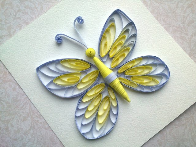 Quilling instructions How to make quilling butterfly with comb. Quilling patterns.