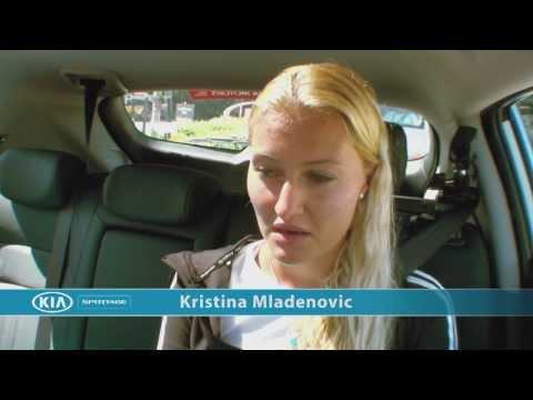 Kristina Mladenovic: Kia Open Drive - 2014 Australian Open
