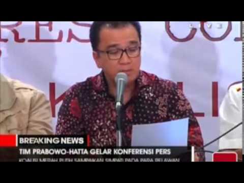 Konferensi Pers Prabowo Hatta Pasca Putusan MK