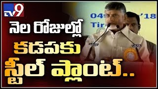 Foundation stone for Kadapa steel plant in a month - CM Chandrababu Naidu