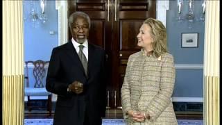 Clinton, Kofi Annan on Syria