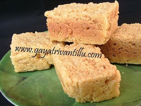 Mysore Pak- Andhra Recipes - Telugu Vantalu