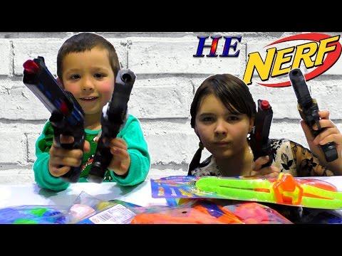 [ОБЗОР НЕ НЕРФ] Бластеры Пистолеты для Мальчиков и Девочек Игрушки NERF WAR GUN BABY