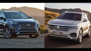 2019 Hyundai Santa Fe vs VW Touareg 2019