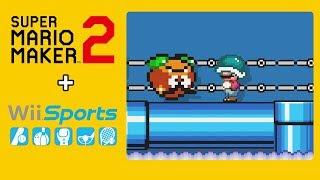 Fase do WII SPORTS no Super Mario Maker 2!?