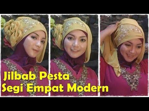 Cara Memakai Jilbab Modern Segi Empat Untuk ke Pesta Cara Memakai Jilbab Pesta Segi