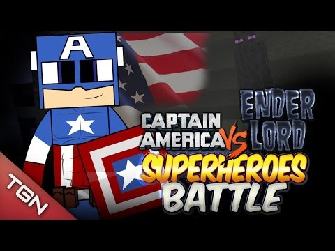 CAPTAIN AMERICA VS  ENDER LORD - SUPER HEROES BATTLE - Minecraft Arena