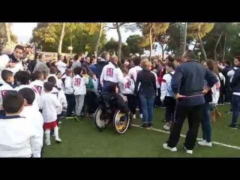 Javier Zanetti al Campo Pirani di Jesi