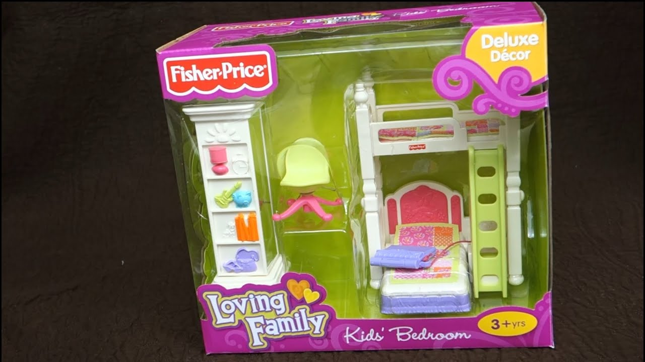 fisher price loving family kids 39 bedroom youtube