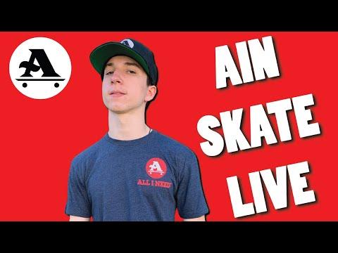 30 minutes of LIVE skateboarding with Jacob Jensen - AIN SKATE LIVE