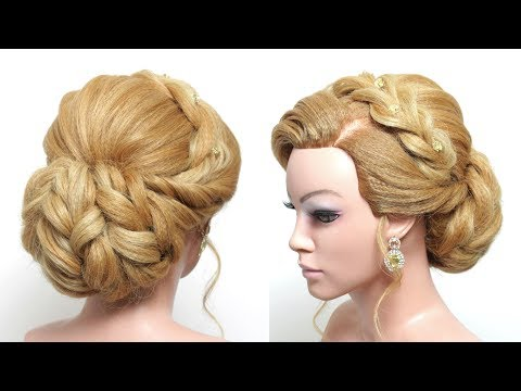 Wedding Updo. Bridal  Hairstyle For Long Hair Tutorial Step by Step