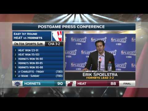 Erik Spoelstra -- Miami Heat vs. Charlotte Hornets Game 5 postgame 4/27/16